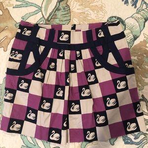 Anthropology VHTF!! EC swan Skirt great colors 4